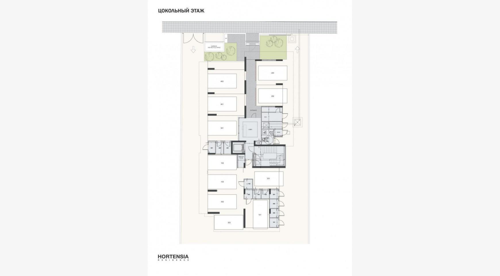 Hortensia Residence, Кв. 103. 3-Спальная Квартира в Новом Комплексе возле Моря - 67
