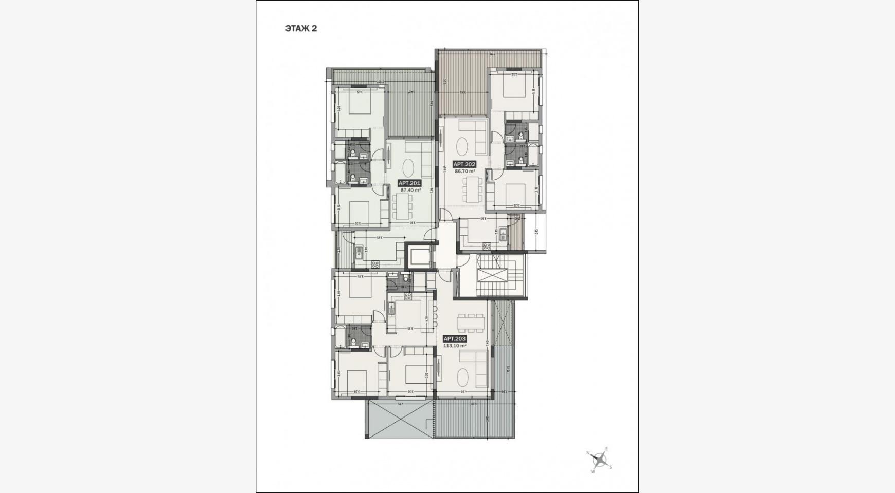 Hortensia Residence. Элитная 3-Спальная Квартира 203 возле Моря - 20