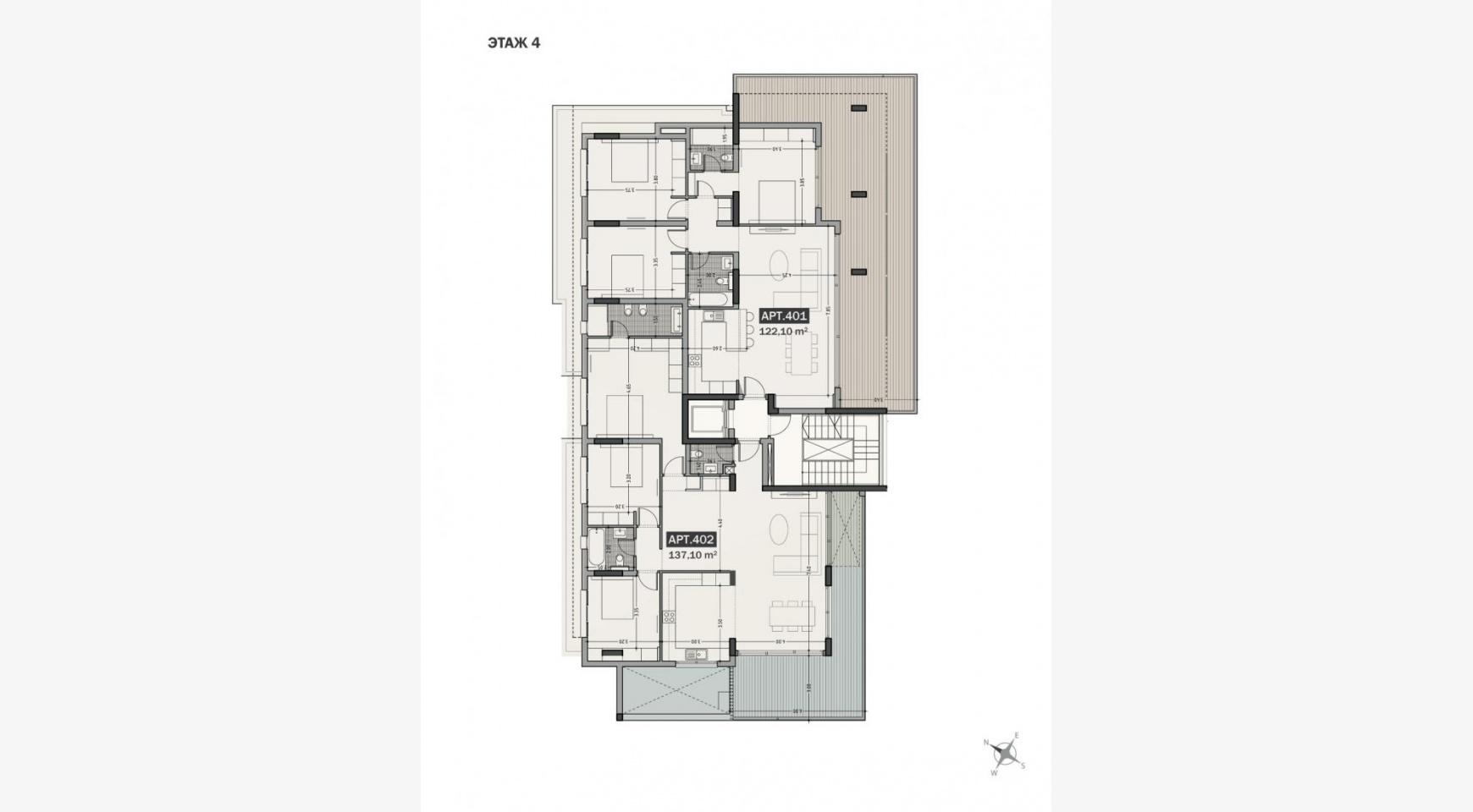 Hortensia Residence, Кв. 203 . 3-Спальная Квартира в Новом Комплексе возле Моря - 33