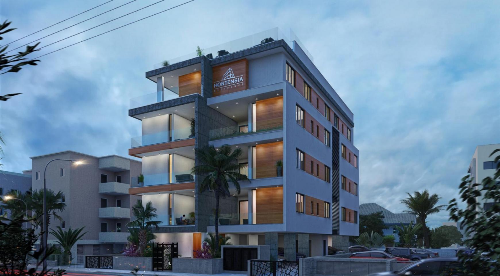 Hortensia Residence. Элитная 3-Спальная Квартира 203 возле Моря - 9