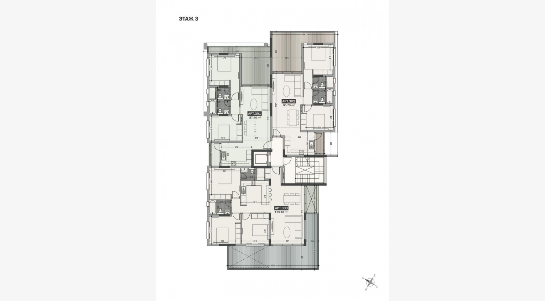 Hortensia Residence. Элитная 3-Спальная Квартира 203 возле Моря - 21