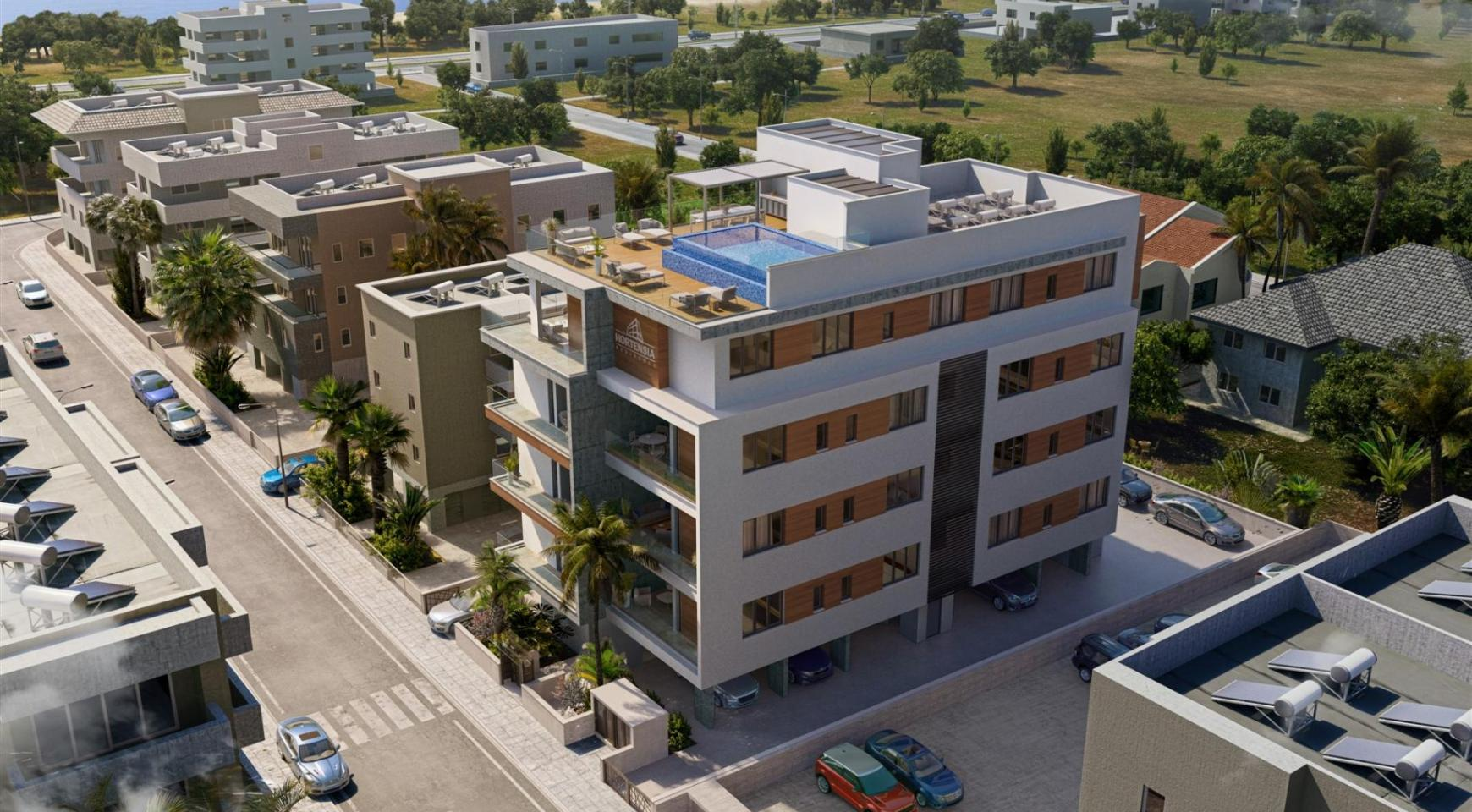 Hortensia Residence. Элитная 3-Спальная Квартира 203 возле Моря - 5