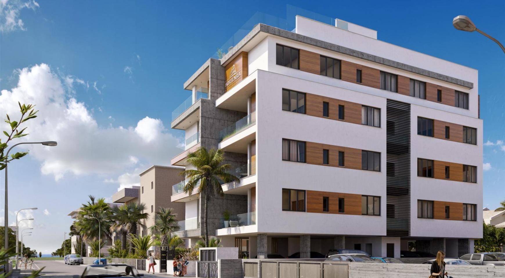 Hortensia Residence, Кв. 203 . 3-Спальная Квартира в Новом Комплексе возле Моря - 1