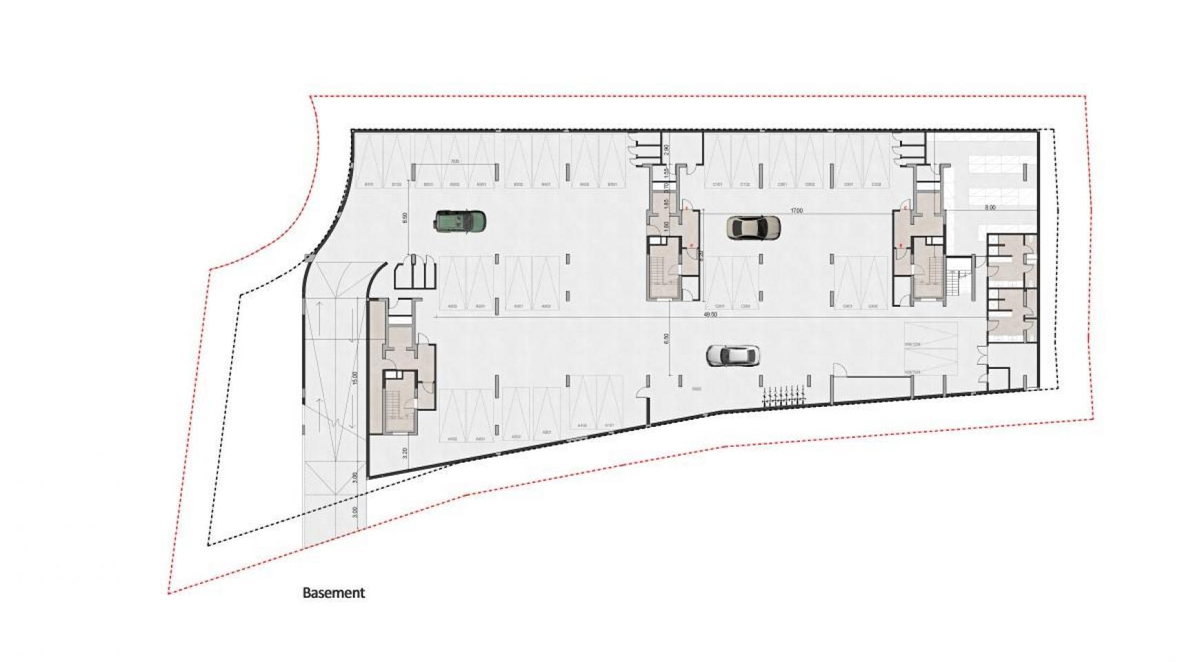 Urban City Residences, Block C. Новая Просторная 3-Спальная Квартира 401 в Центре Города - 44