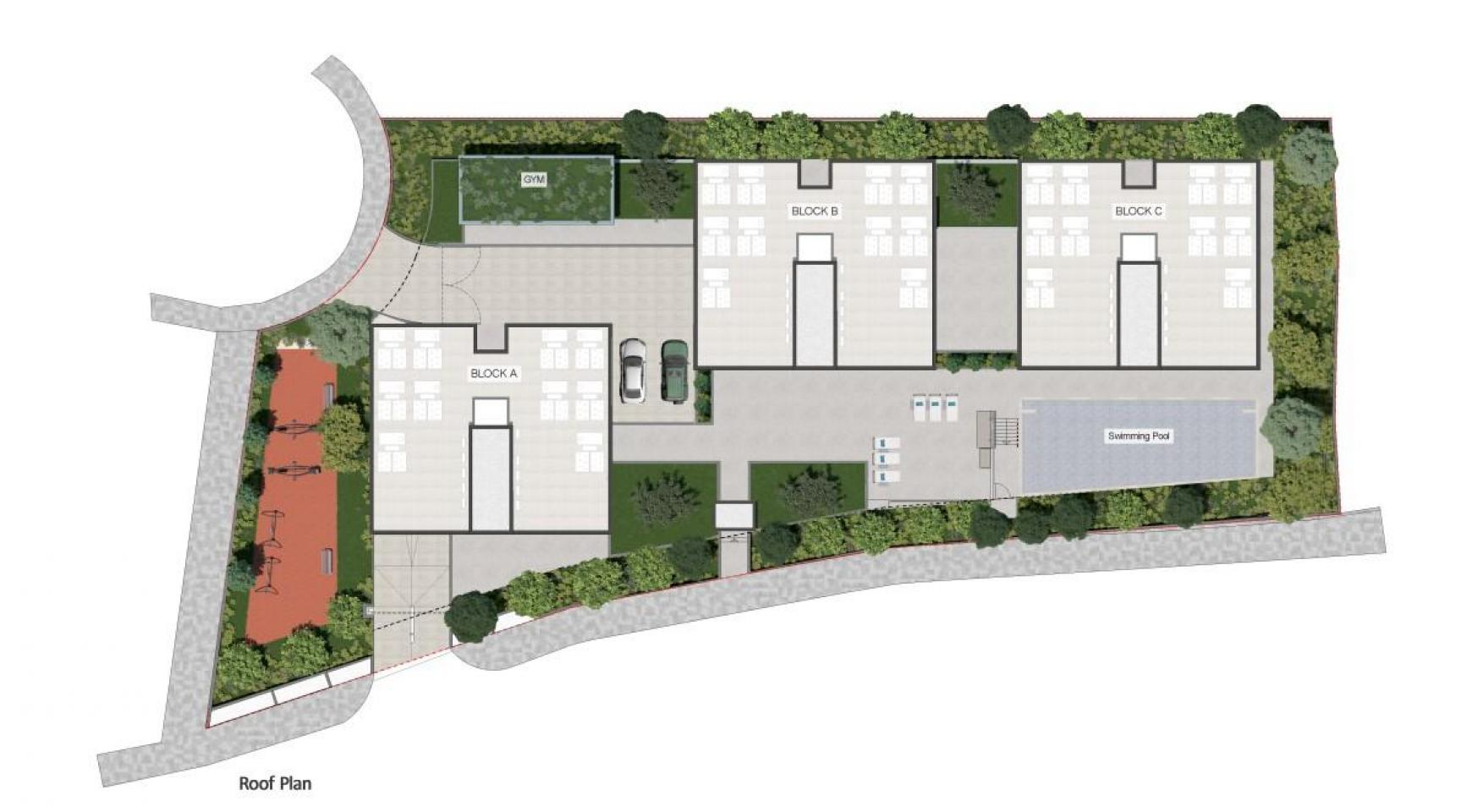 Urban City Residences, Block C. Новая Просторная 3-Спальная Квартира 401 в Центре Города - 46