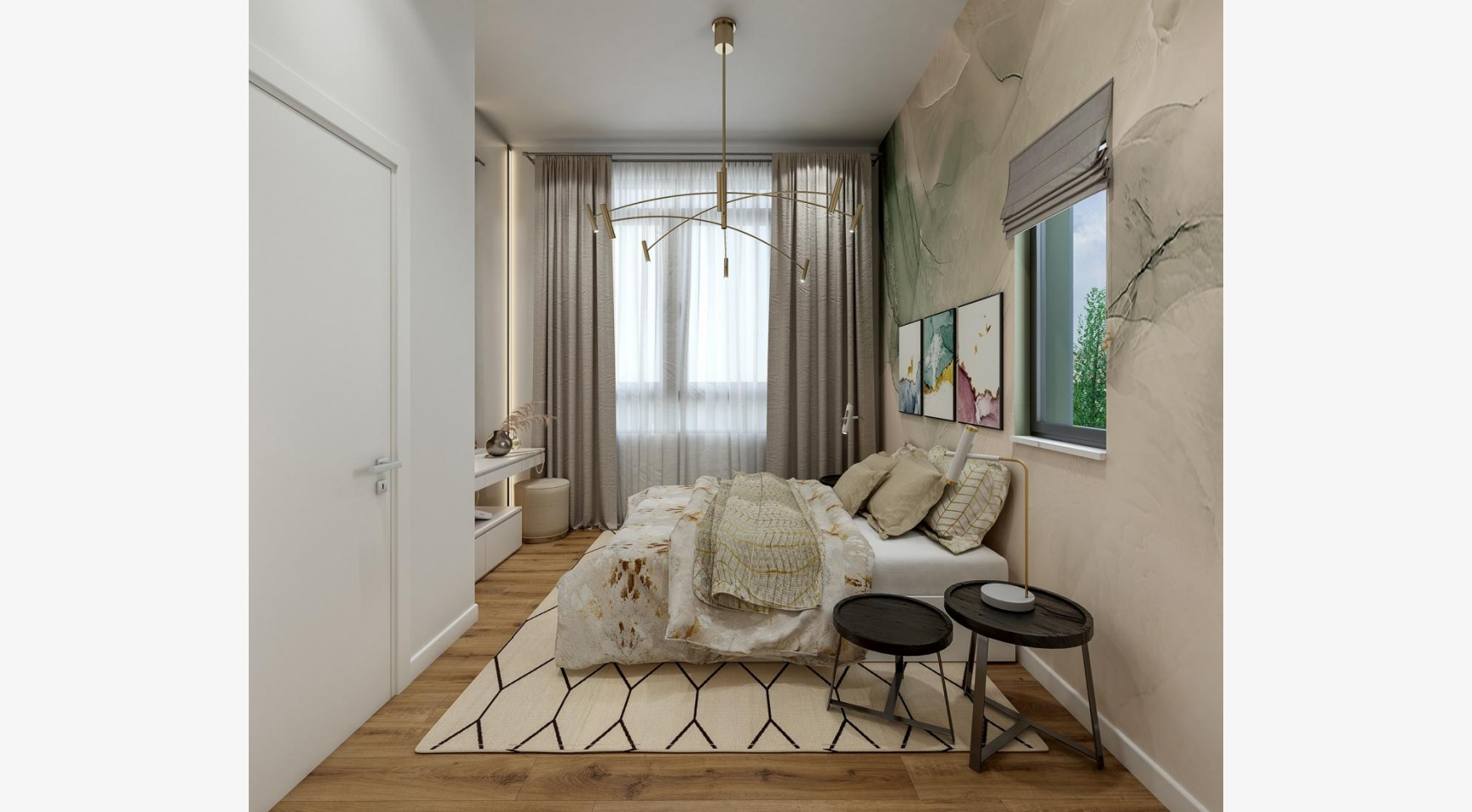 Urban City Residences, Block B. Новая Просторная 2-Спальная Квартира 302 в Центре Города - 8