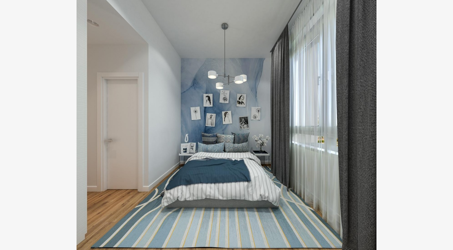 Urban City Residences, Block B. Новая Просторная 2-Спальная Квартира 302 в Центре Города - 9