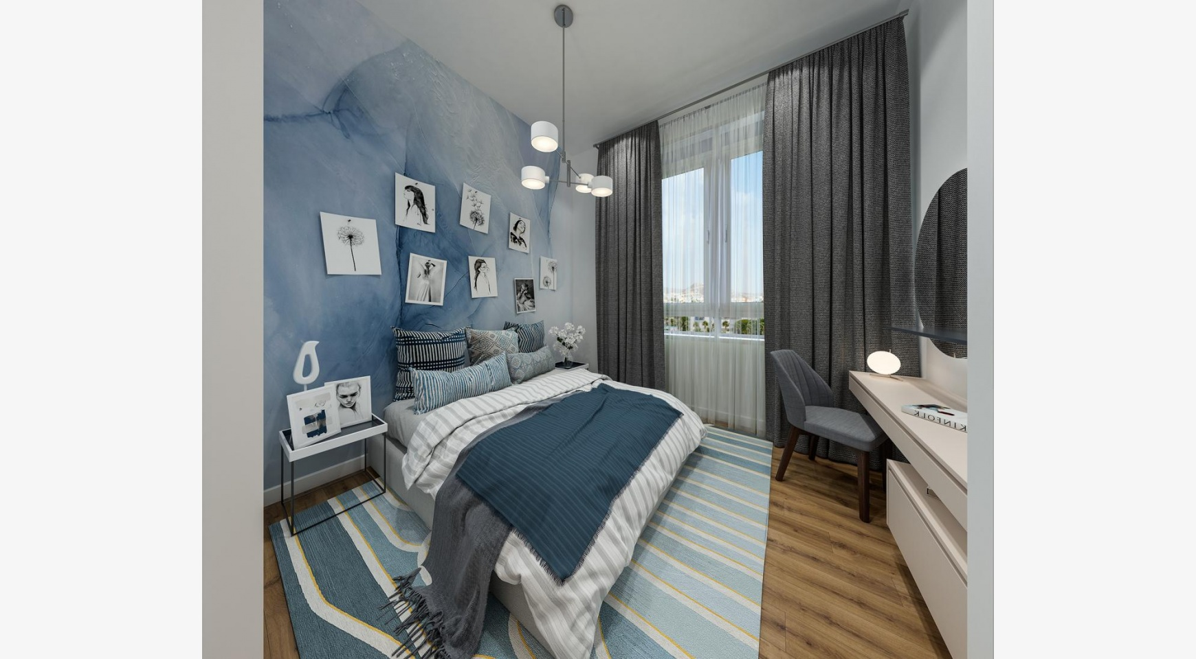 Urban City Residences, Block B. Новая Просторная 2-Спальная Квартира 302 в Центре Города - 10