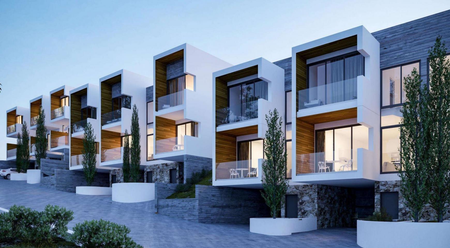 Новый Элитный 2-Спальный Таунхаус в Районе Agios Tychonas - 1