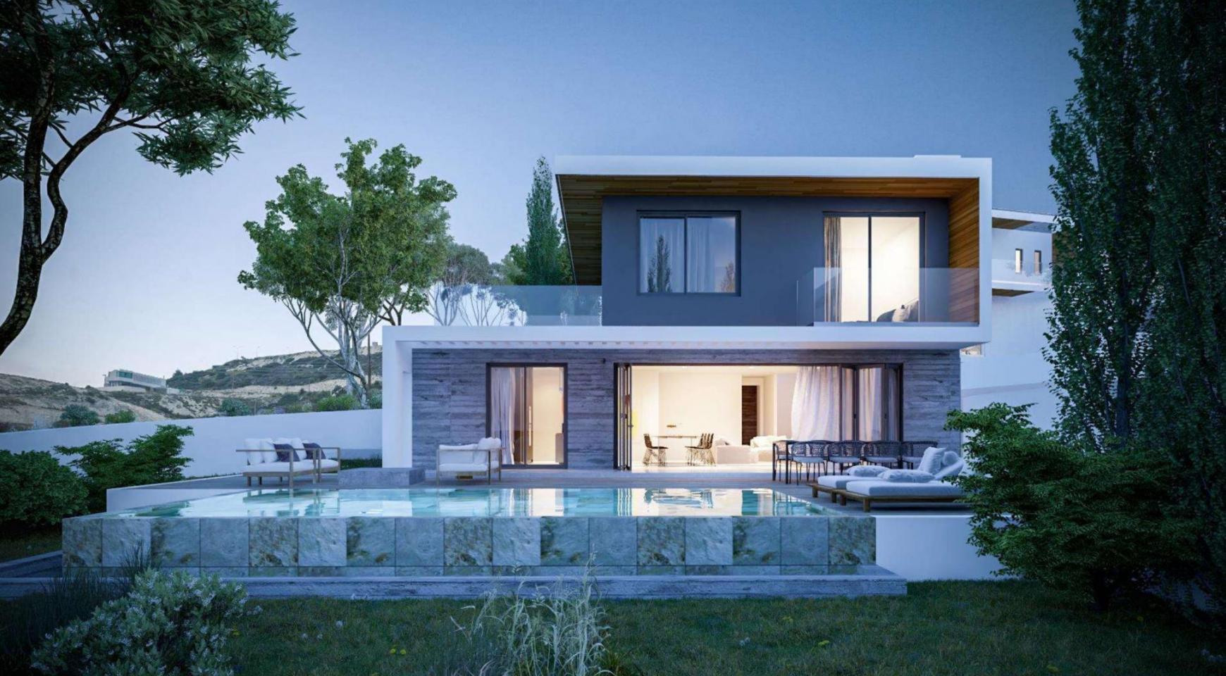 4-Спальная Вилла в Новом Проекте в Районе Agios Tychonas - 1