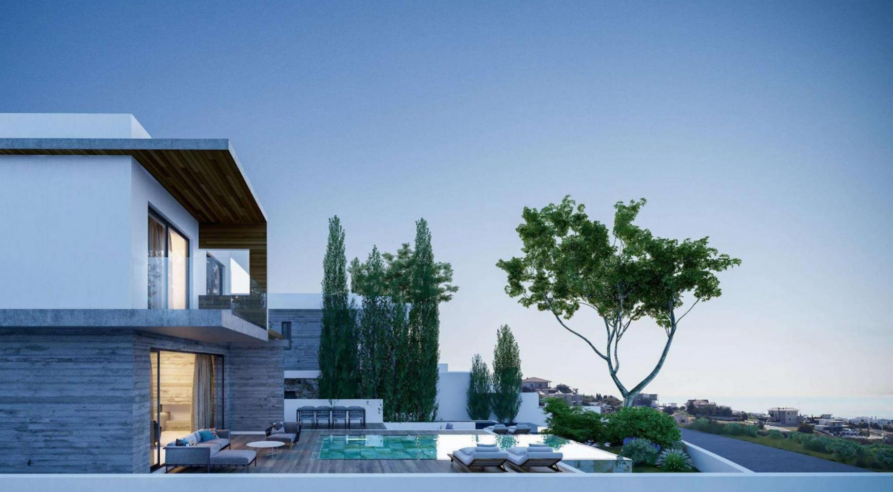 Элитная 3-Спальная Вилла в Новом Проекте в Районе Agios Tychonas - 1