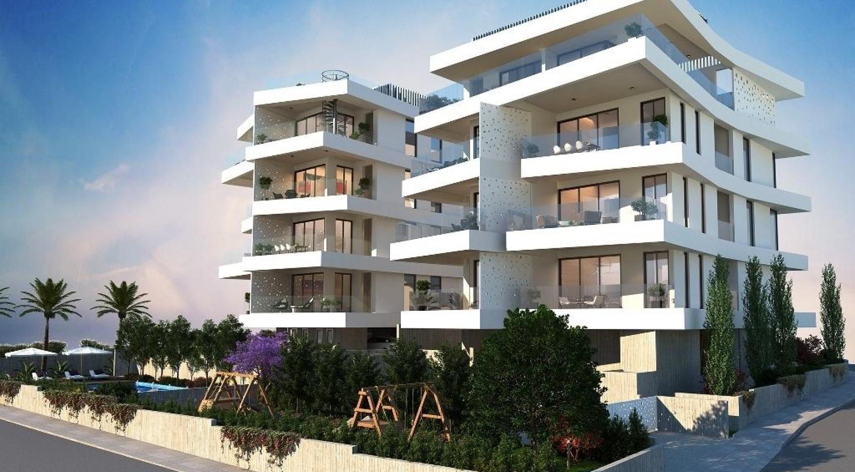 Новая 2-Спальная Квартира в Современном Здании в Районе Germasogeia - 6