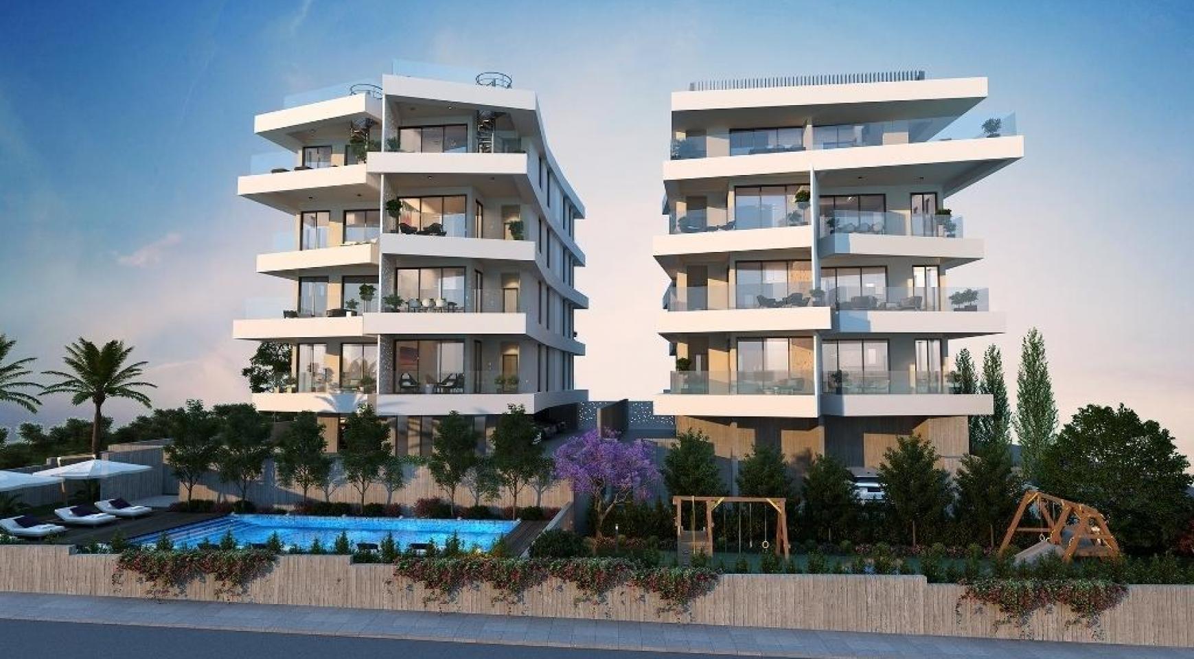 Новая 2-Спальная Квартира в Современном Здании в Районе Germasogeia - 5
