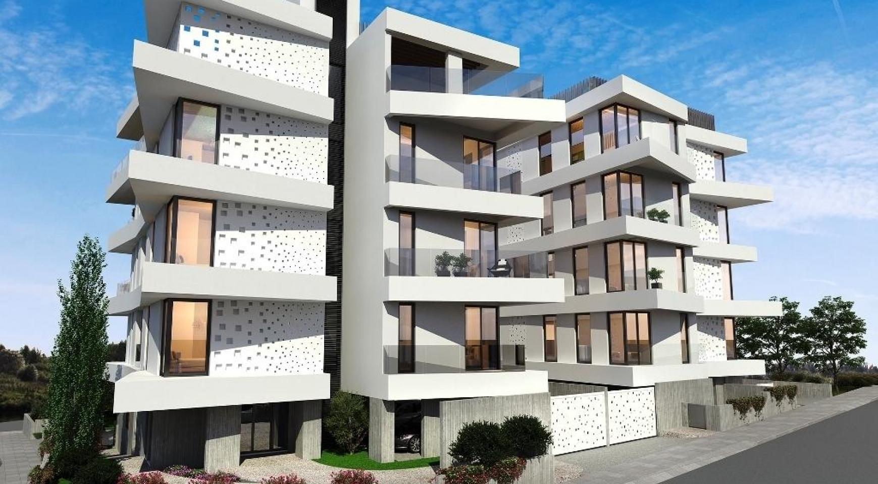 Новая 2-Спальная Квартира в Современном Здании в Районе Germasogeia - 8
