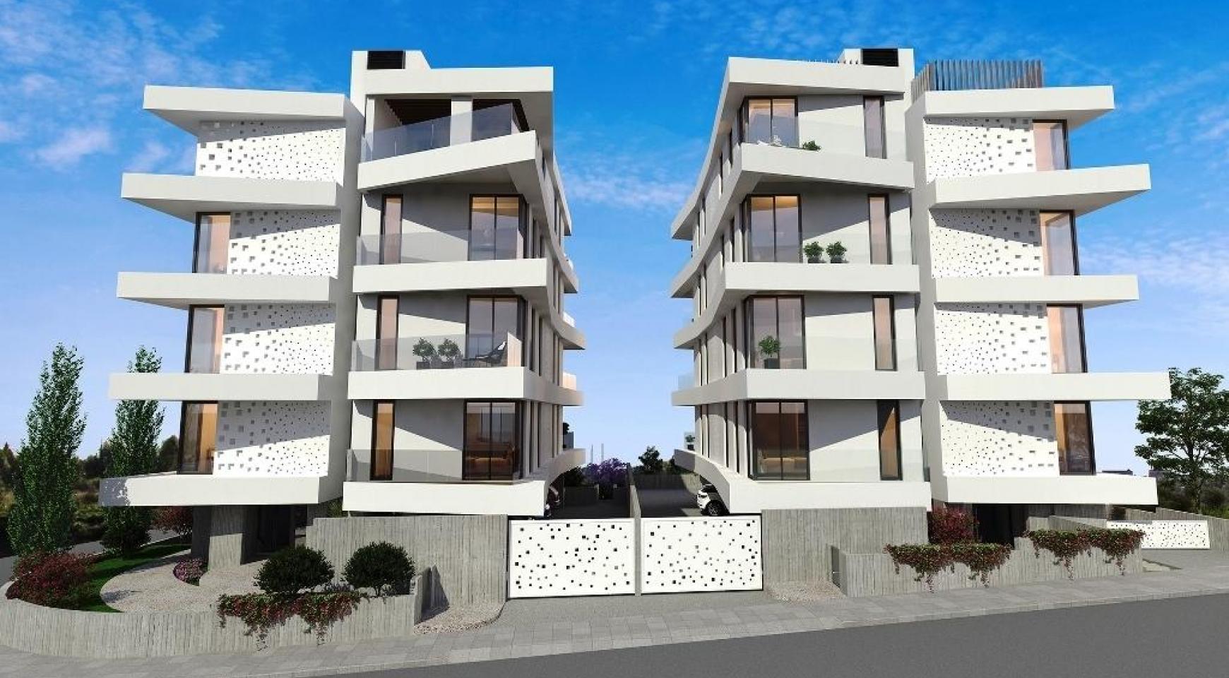 Новая 2-Спальная Квартира в Современном Здании в Районе Germasogeia - 7
