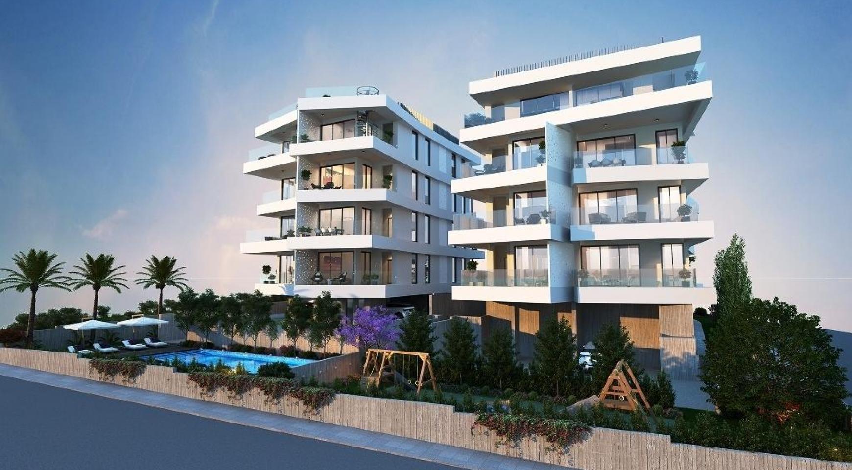Новая 3-Спальная Квартира в Современном Комплексе в Районе Germasogeia - 7