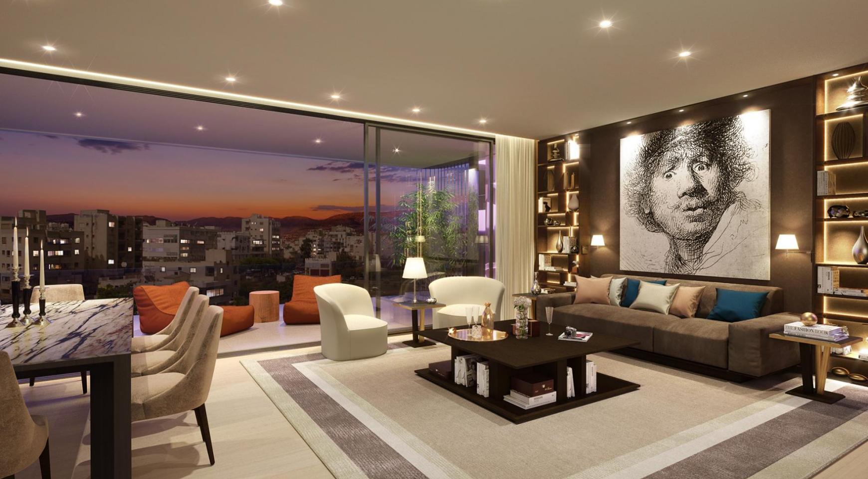 Новая 3-Спальная Квартира с Частной Террасой на Крыше в Центре Города - 2