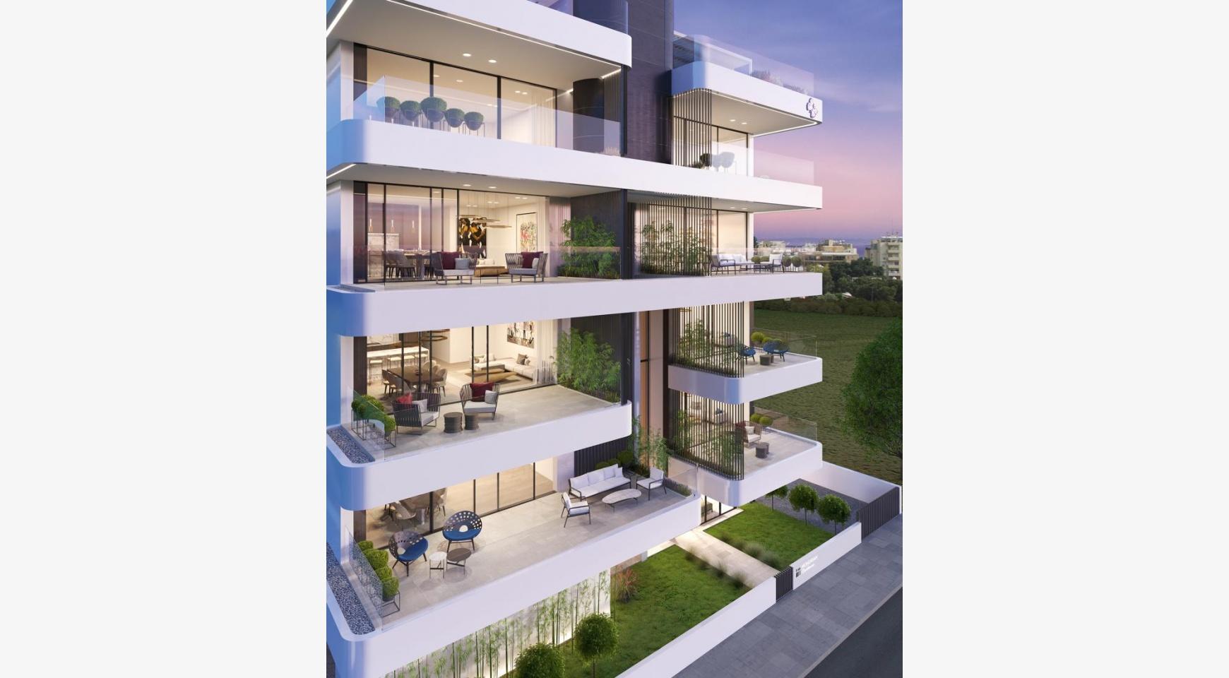 Новая 3-Спальная Квартира с Частной Террасой на Крыше в Центре Города - 4