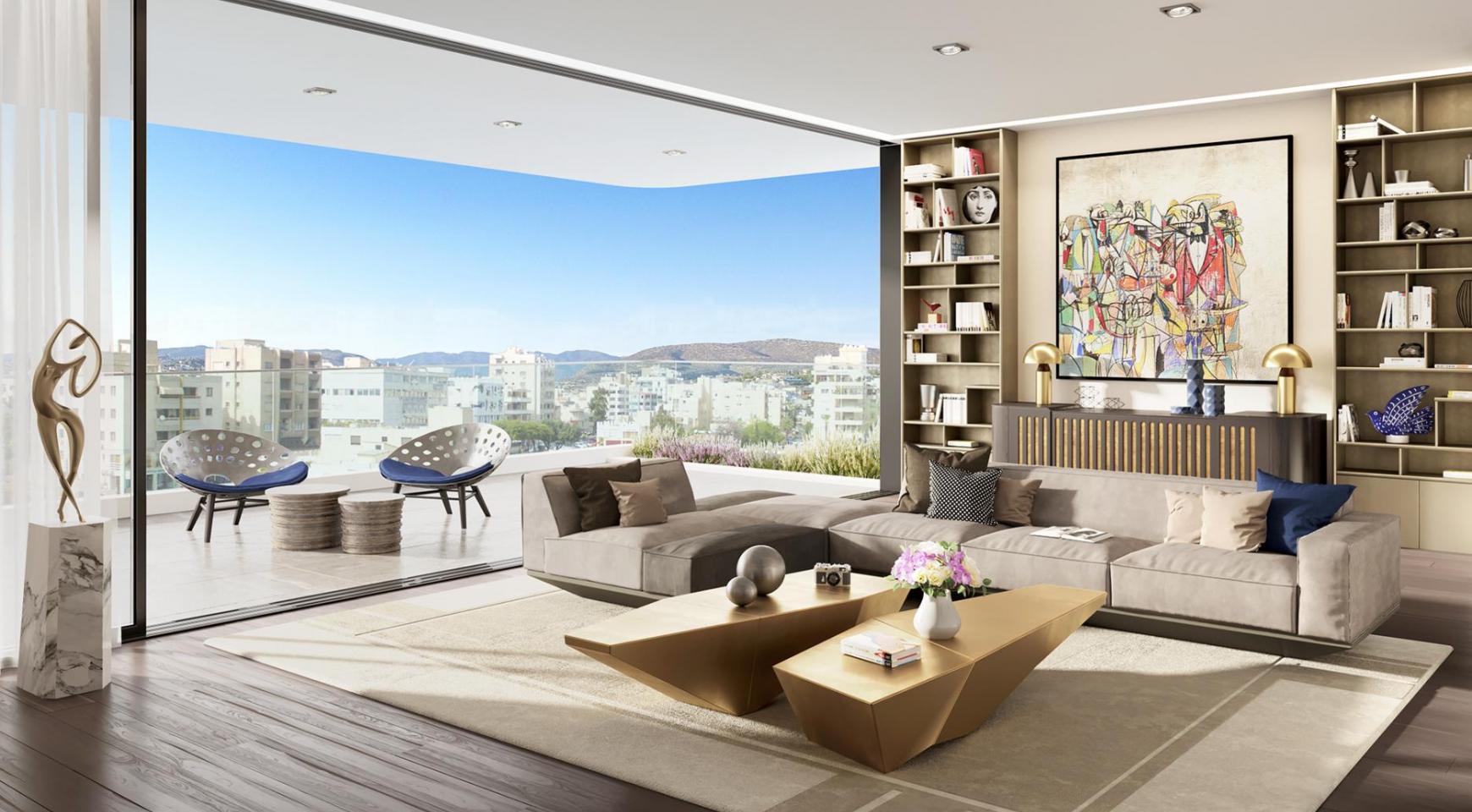 Новая 3-Спальная Квартира с Частной Террасой на Крыше в Центре Города - 1