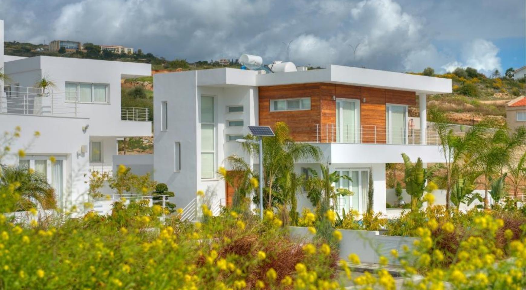 Современная 4-Спальная Вилла с Видом на Море в Районе Agios Tychonas - 7