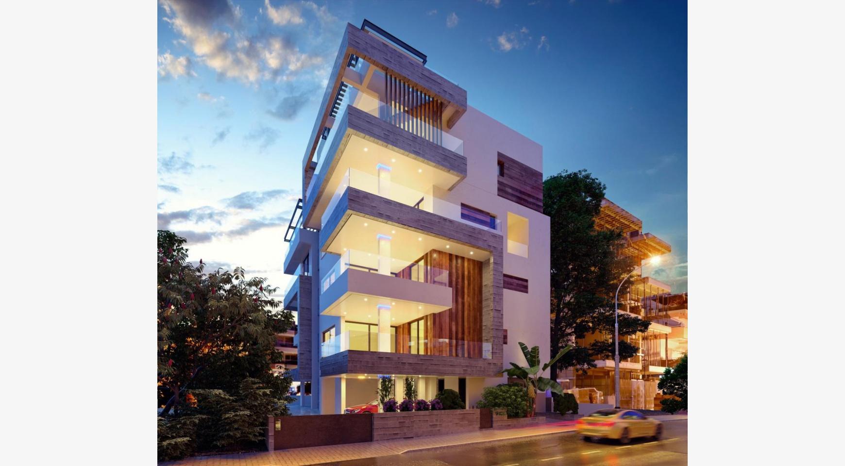 Новая 2-спальная Квартира в Современном Здании у Моря - 1