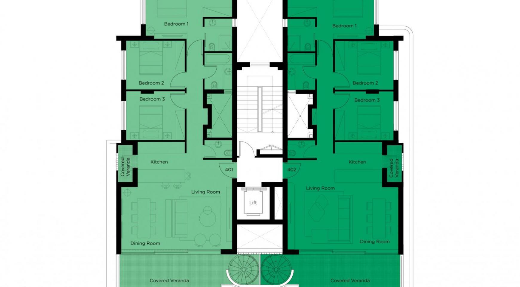 Новый 3-Спальный Пентхаус в Центре Города - 8
