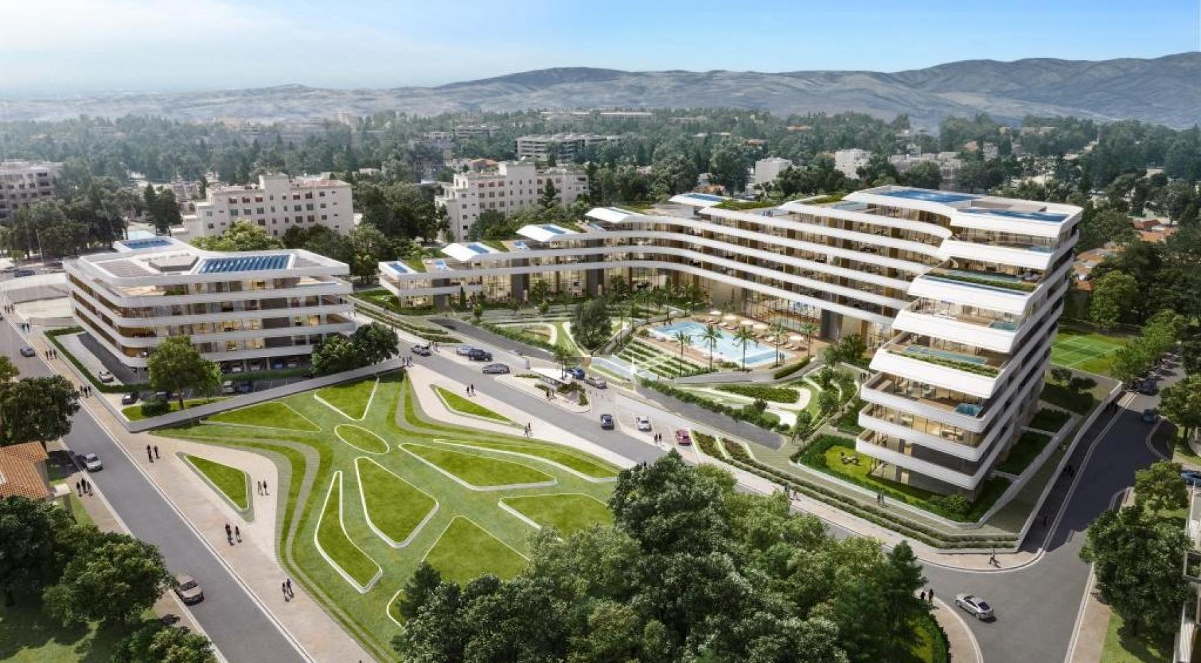 Новая 2-Спальная Кавртира в Современном Комплексе в Районе Потамос Гермасойя - 1