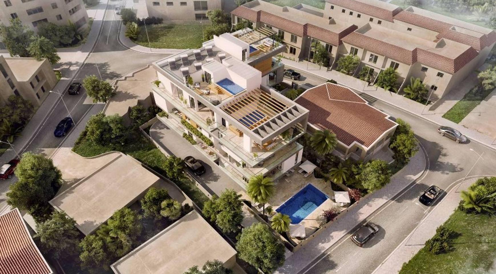 Новый 3-Спальный Пентхаус с Частным Бассейном в Районе Потамос Гермасойя - 9