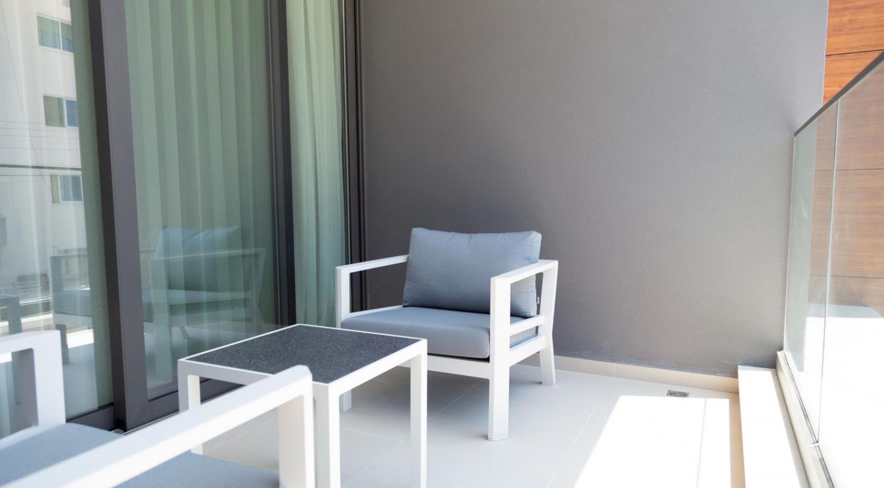Malibu Residence. Современная  Односпальная Квартира 102 в Туристической Зоне - 31