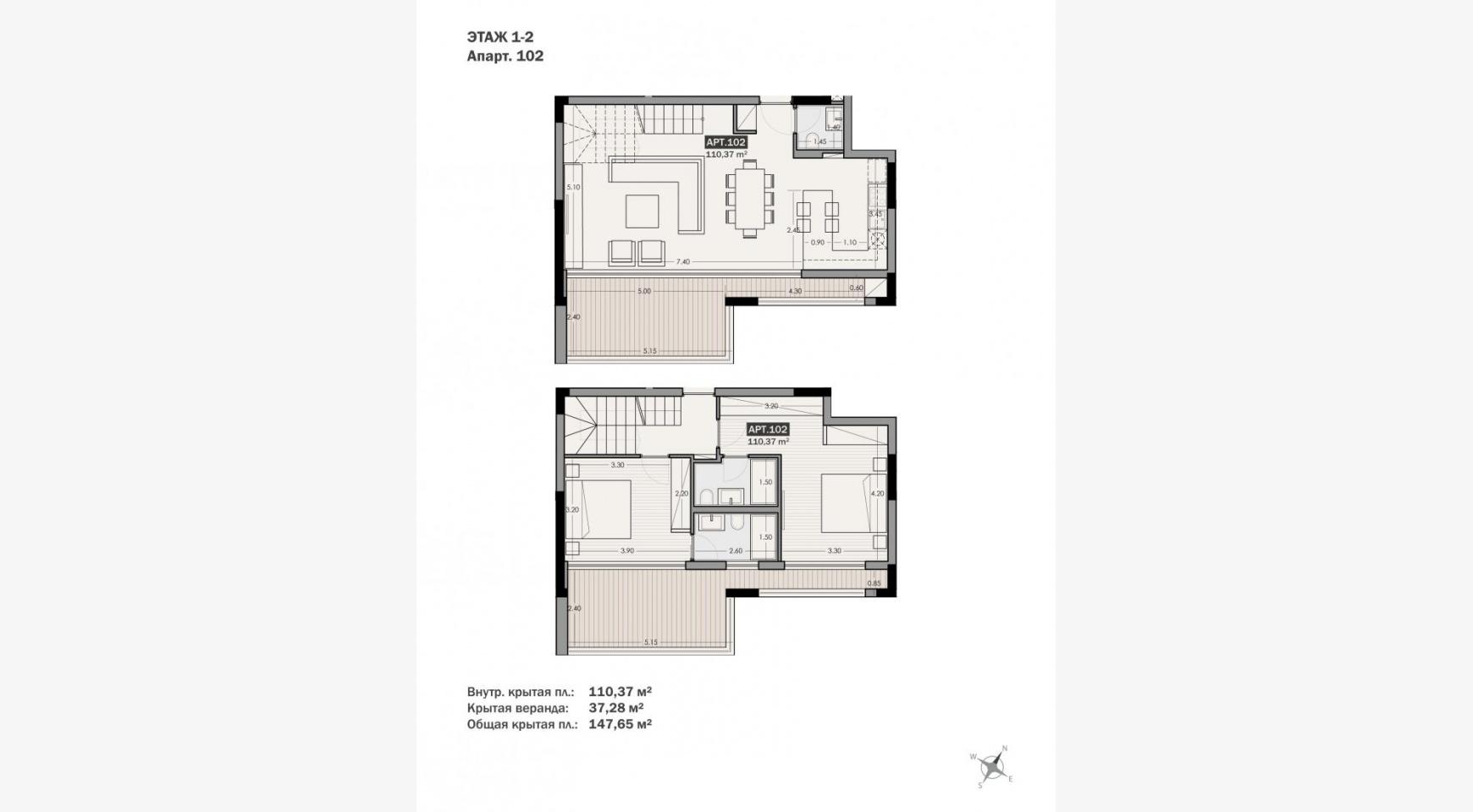Parkside Residence, Кв. 102. 2-Спальная Квартира-Дуплекс в Новом Комплексе в Туристическом Районе - 32