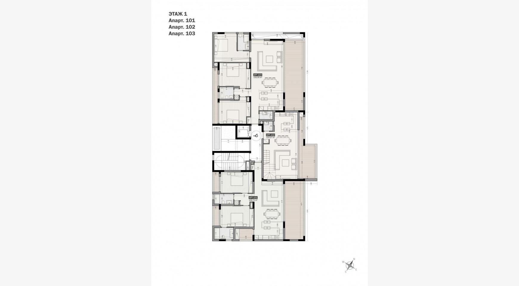 Parkside Residence, Кв. 103. 3-Спальная Квартира в Новом Комплексе в Туристическом Районе - 12