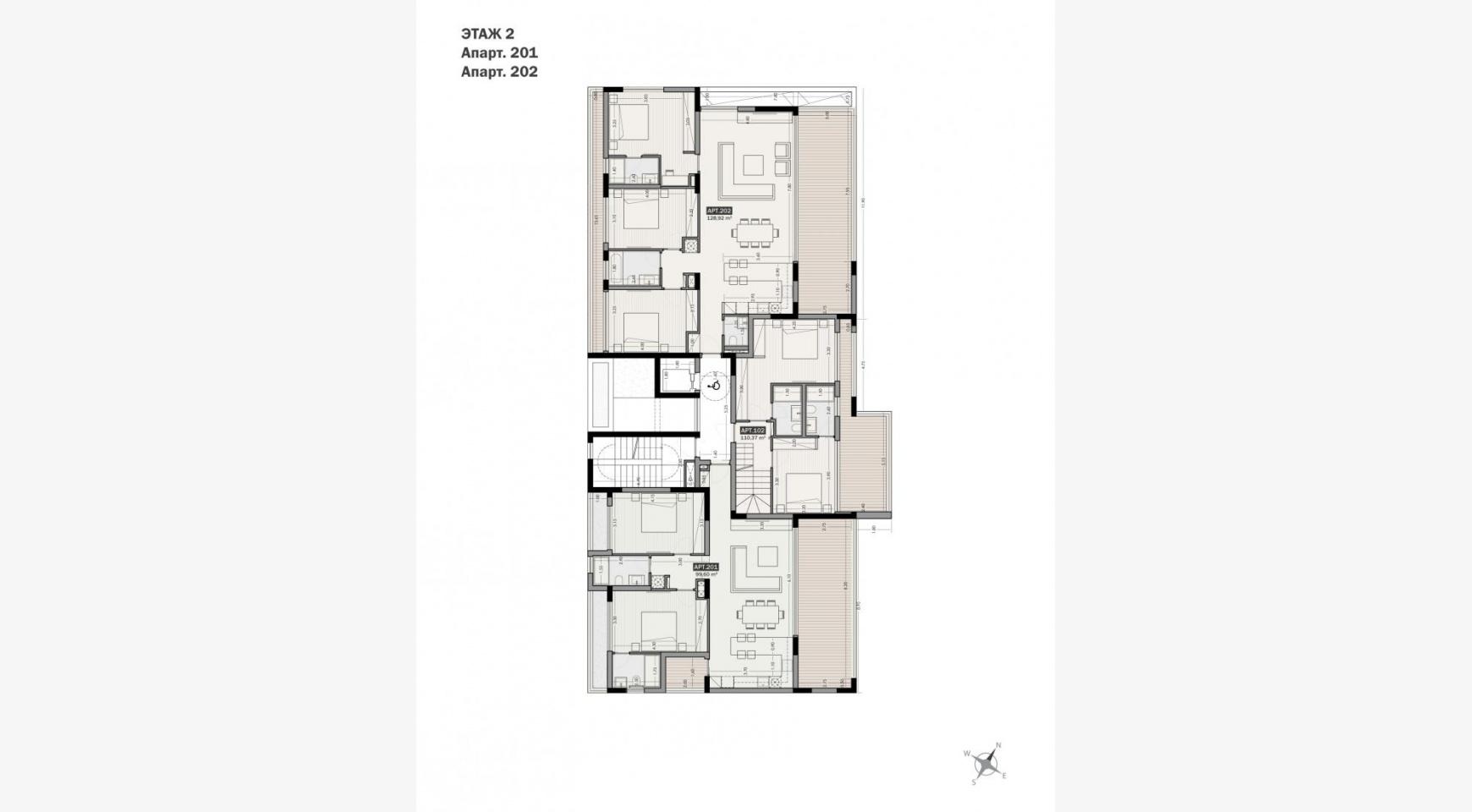 Parkside Residence, Кв. 202. 3-Спальная Квартира в Новом Комплексе в Туристическом Районе - 32