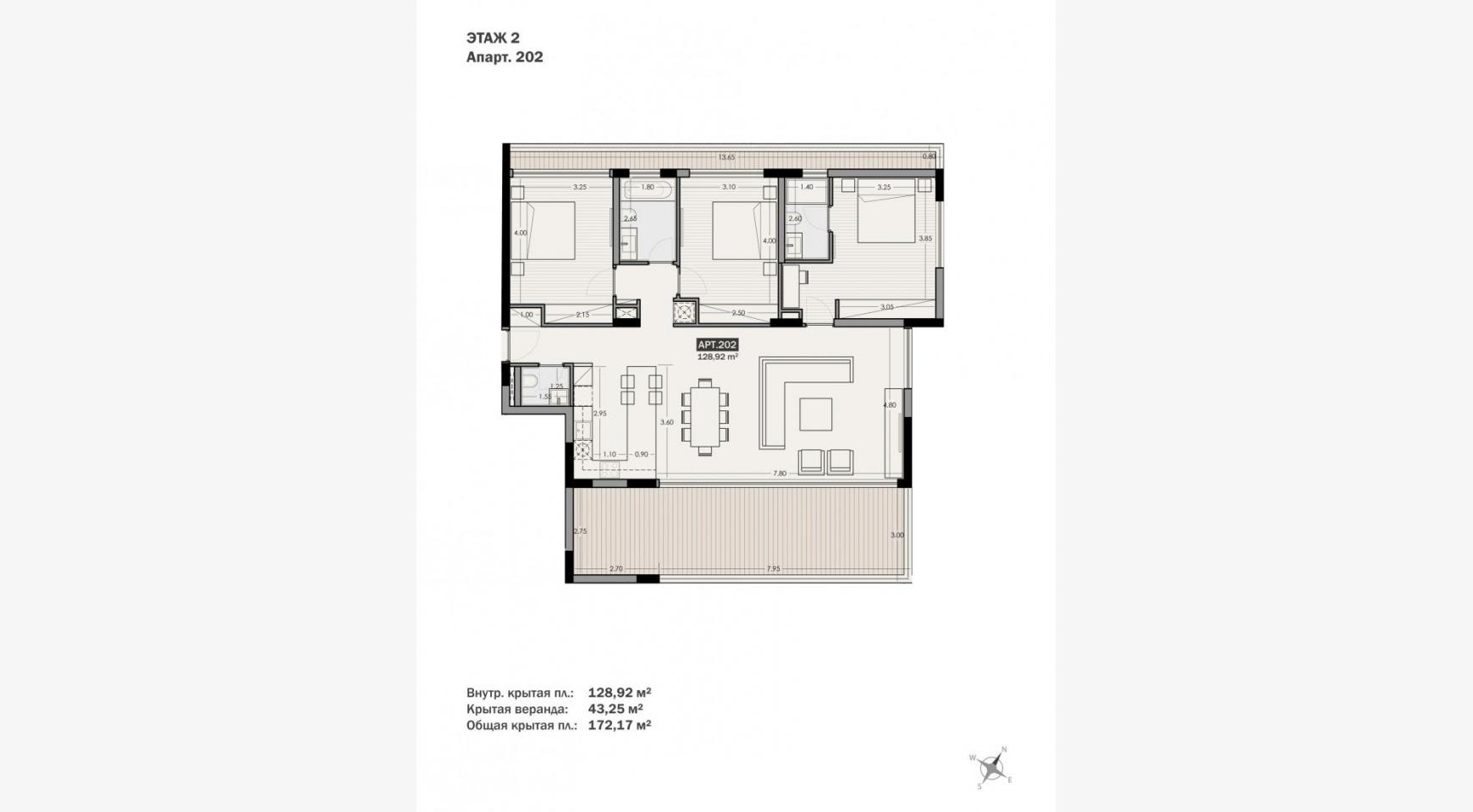 Parkside Residence, Кв. 202. 3-Спальная Квартира в Новом Комплексе в Туристическом Районе - 31