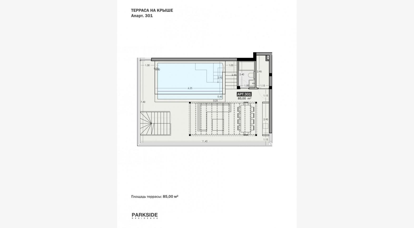 Parkside Residence, Кв. 301. 3-Спальный Пентхаус в Новом Комплексе в Туристическом Районе - 34