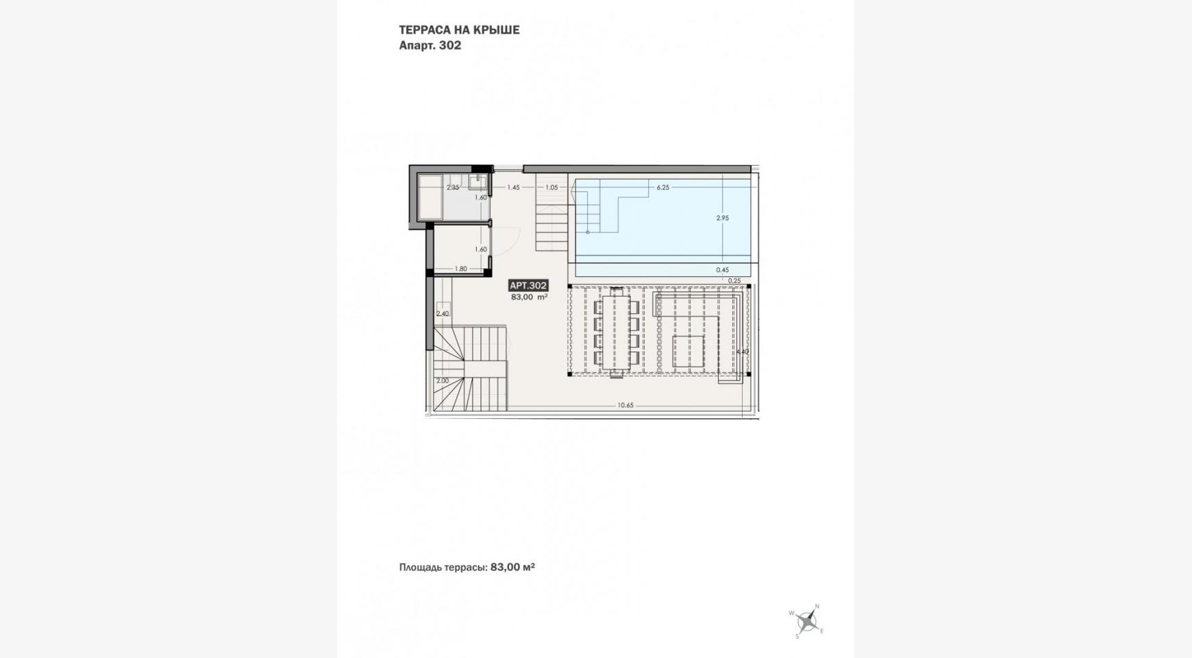 Parkside Residence. Просторный 4-Спальный Пентхаус 302 в Туристическом Районе - 22