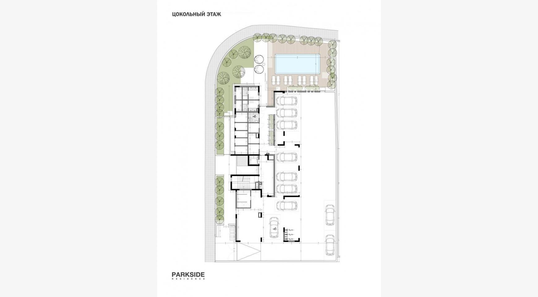 Parkside Residence. Просторный 4-Спальный Пентхаус 302 в Туристическом Районе - 19