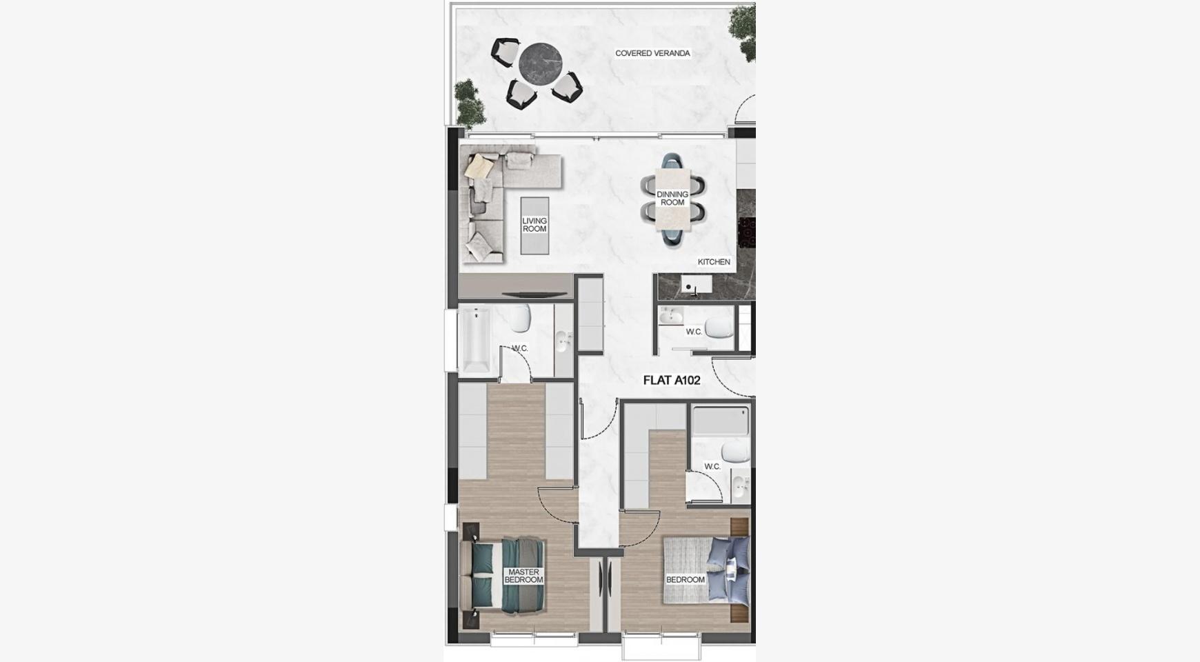 Urban City Residences, Кв. C 501. 3-Спальная Квартира в Новом Комплексе в Центре Города - 41